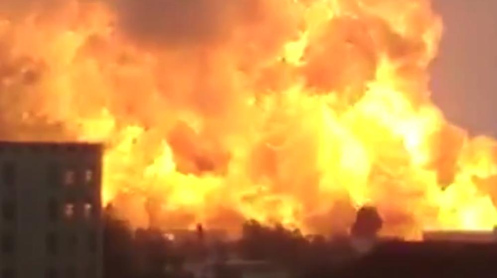 На химическом заводе в Китае произошел мощный взрыв, который вызвал землетрясение магнитудой 2,2 (видео)