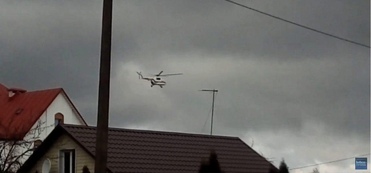 Лукашенко прилетел в Барановичи (видео)
