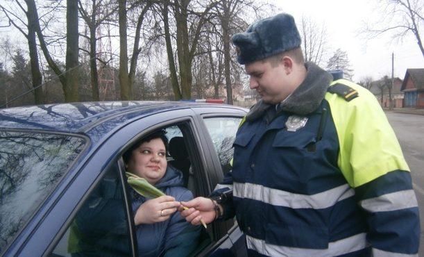 ГАИ Барановичей поздравит женщин с 8 Марта