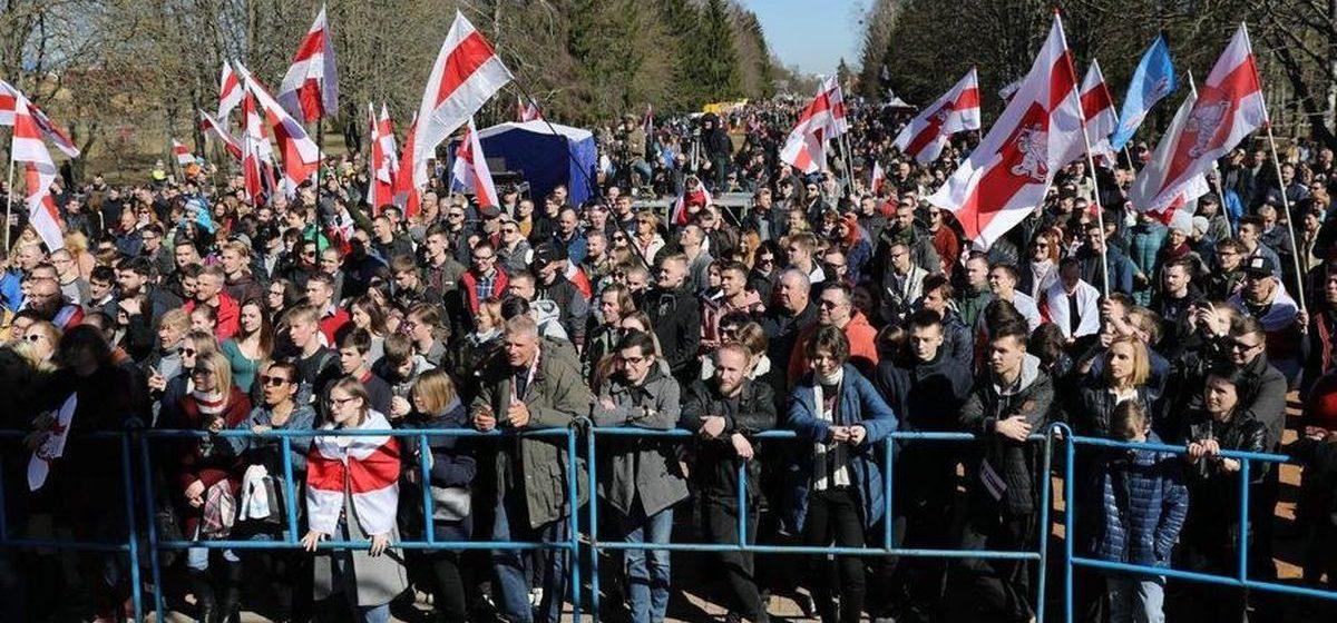 «Гродна — гэта годна». 5000 человек собрались на День Воли около Коложи