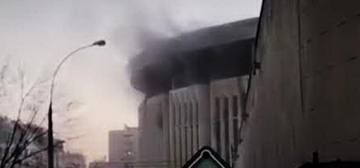 В Москве горел спорткомплекс «Олимпийский»