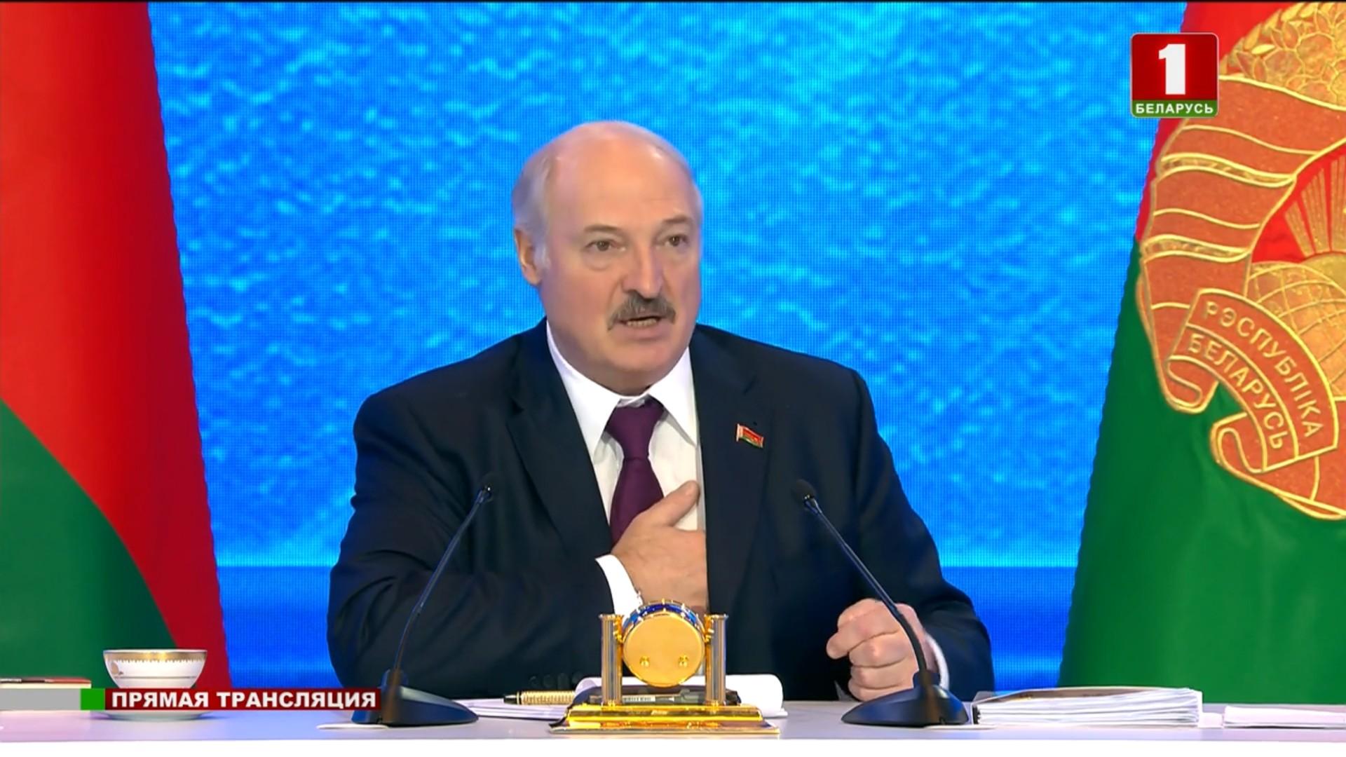 1 марта 2019 года. Большой разговор с президентом Александром Лукашенко. Кадр из видео