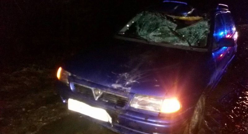 В Ляховичах автомобиль сбил велосипедиста (фотофакт)