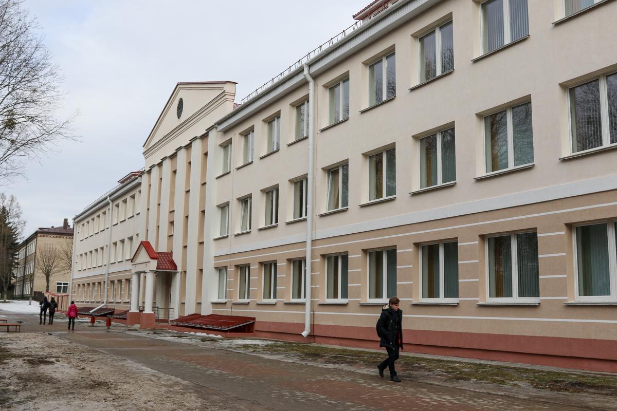 Новый корпус Барановичского государственного колледжа легкой промышленности им. В.Е. Чернышева. Фото: Intex-press