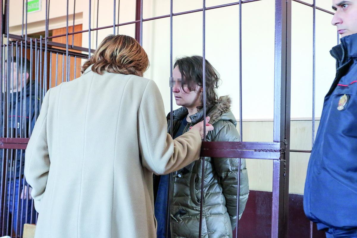 19 марта 2019 года. Обвиняемая перед началом судебного заседания. Фото: Александр ЧЕРНЫЙ