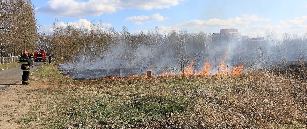 Что горело на Слонимском шоссе в Барановичах (фотофакт)