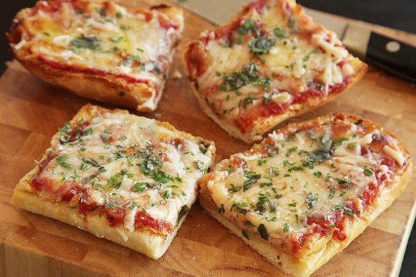 Вкусно и быстро. Пицца-хлеб в духовке за 10 минут