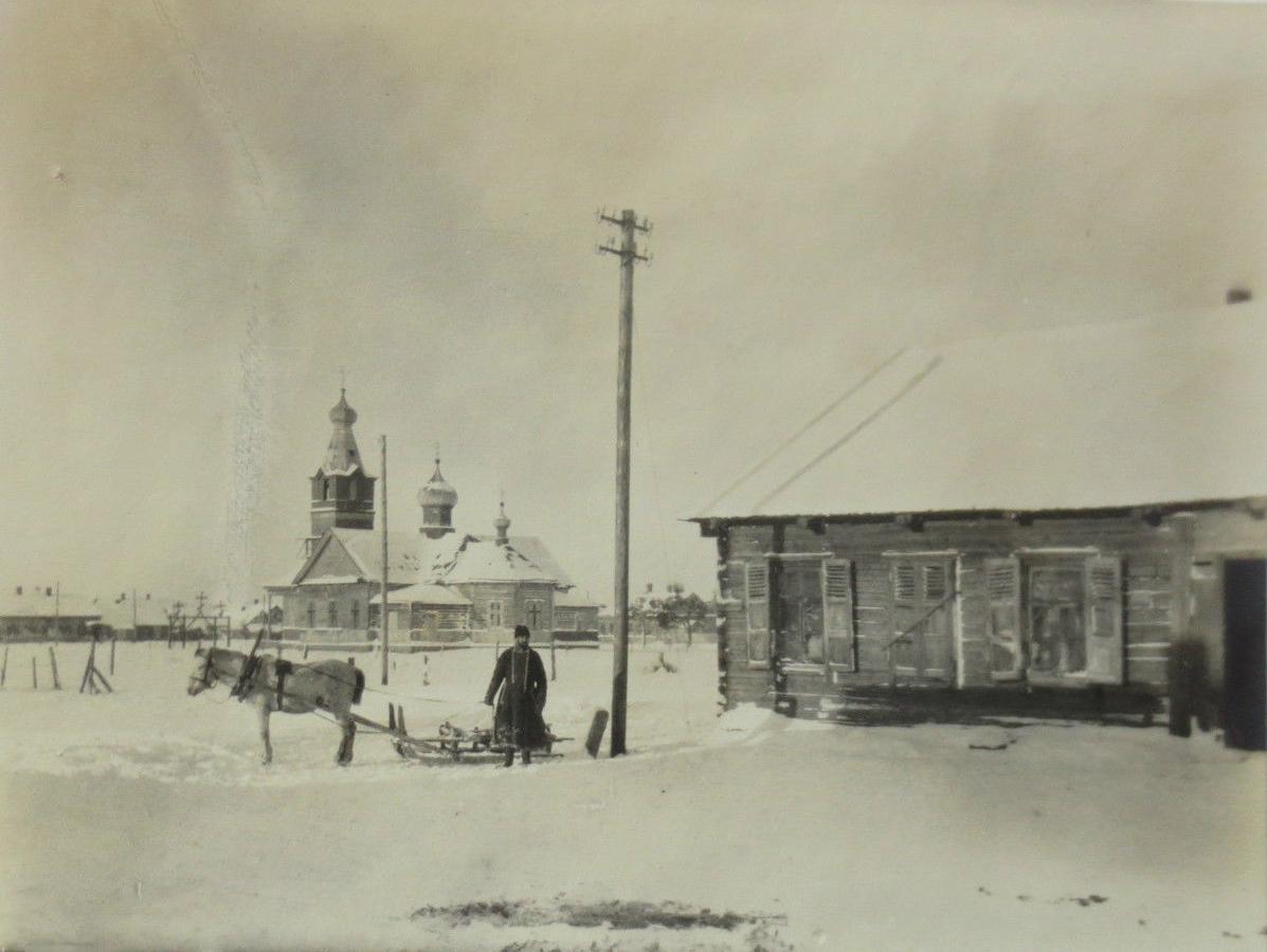 Баранавічы, вуліца царкоўная. Здымак часоў Першай сусветнай вайны