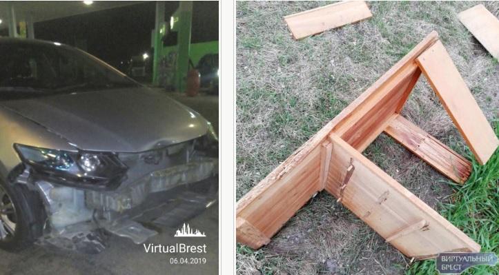 Необычное ДТП на трассе в Дрогичинском районе. Машина врезалась в… письменный стол (видео)