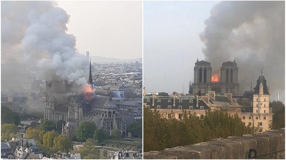 В соборе Нотр-Дам в Париже вспыхнул пожар