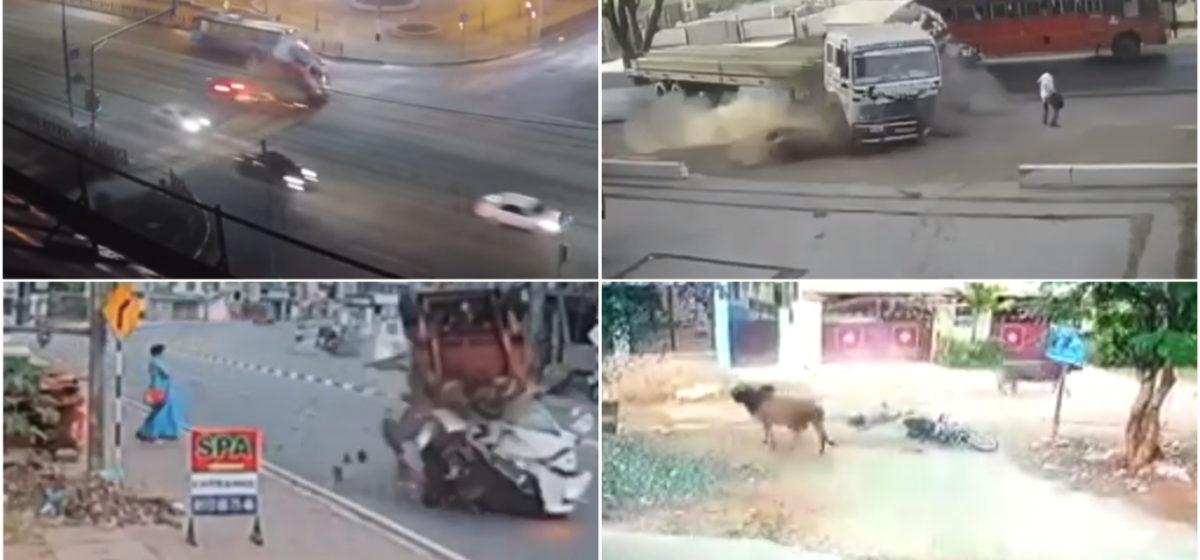 ТОП-5 ужасных аварий за неделю: нападение коровы на байкера, лихач протаранил скорую и «везучий» пешеход (видео 18+)
