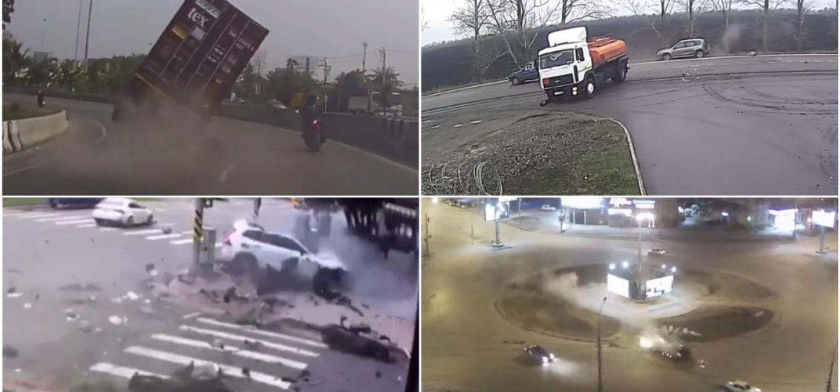 ТОП-5 ужасных аварий за неделю: бензовоз против легковушек, хотел срезать — не получилось, летающий автомобиль (видео 18+)
