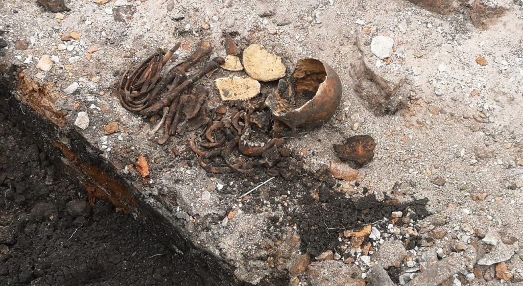 В Брестской крепости во время ремонтных работ нашли костные останки ребенка