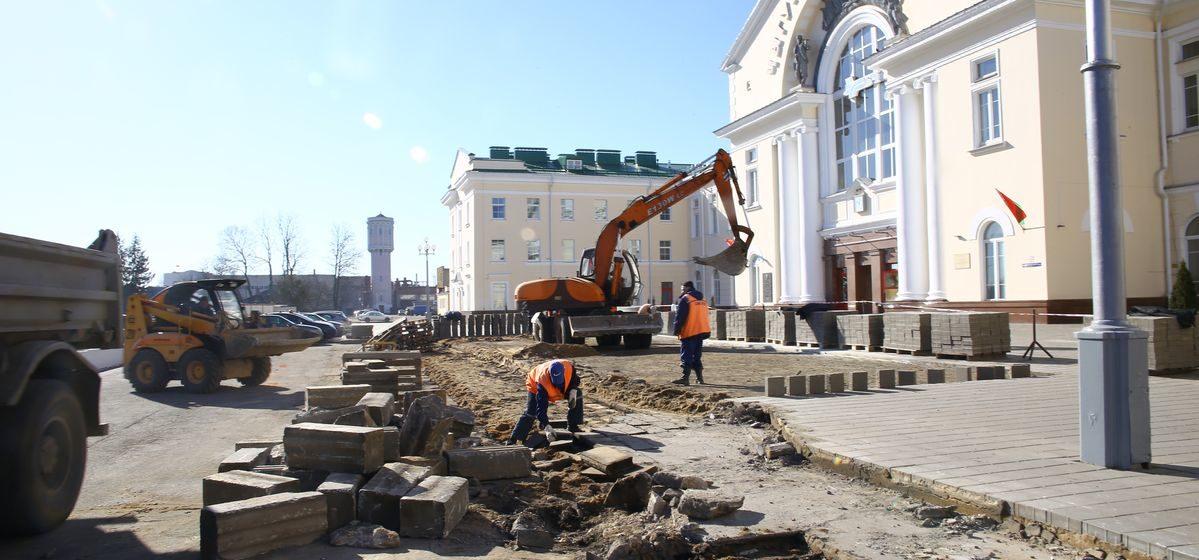 Реконструкцию привокзальной площади начали в Барановичах