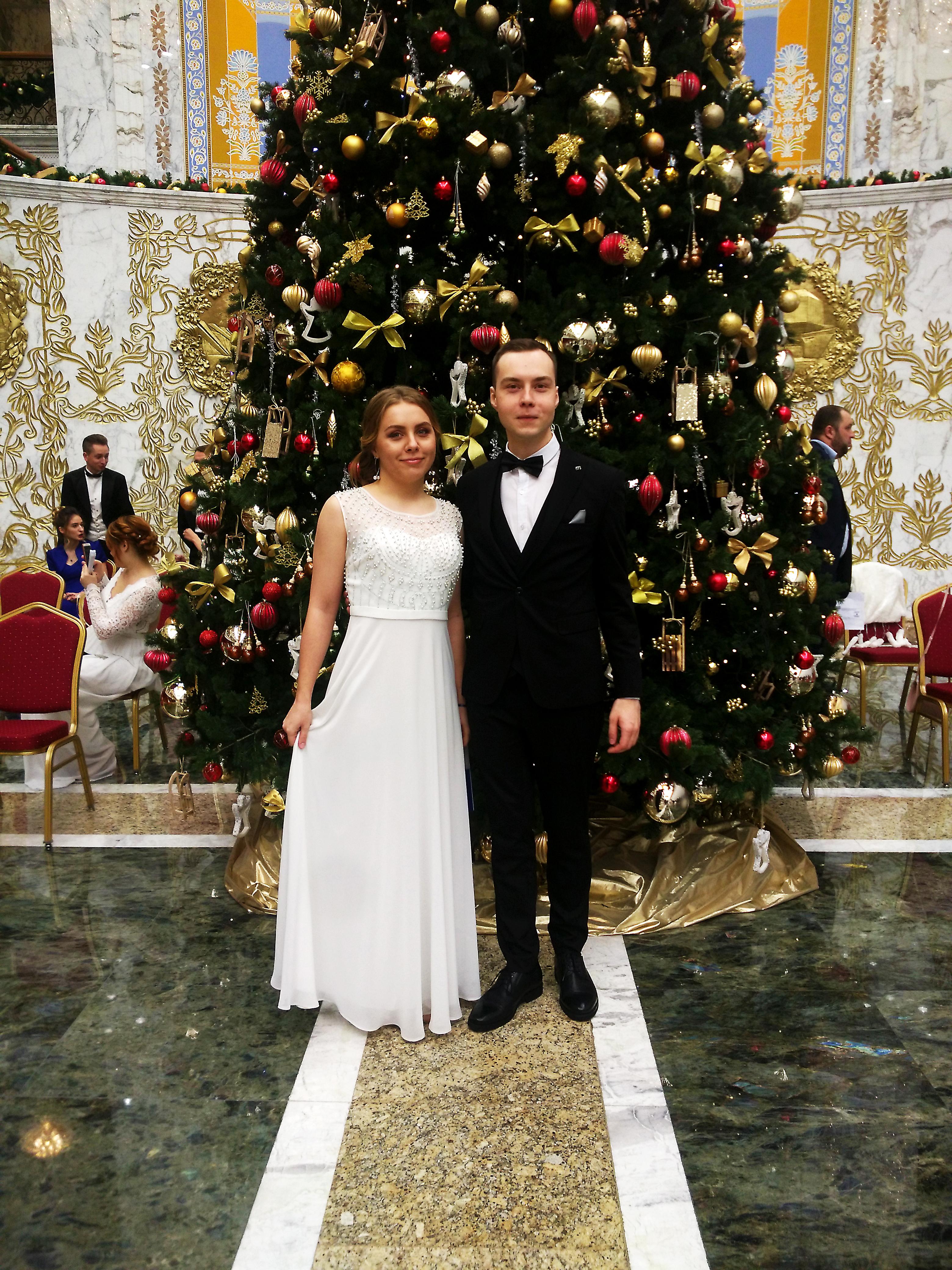Алеся Мурашко и Игорь Комар на первом Республиканском новогоднем балу. Фото: личный архив