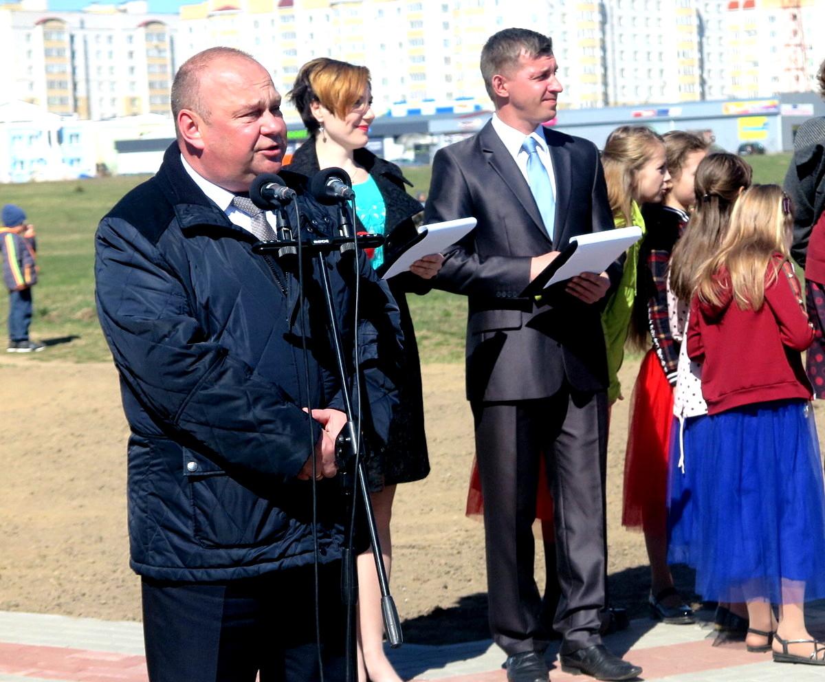 Юрий Громаковский на празднике закладки парка в Боровках. Фото: Елена ЗЕЛЕНКО