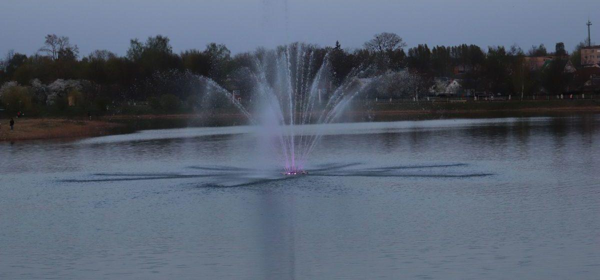 Когда запустят плавающий фонтан в Барановичах