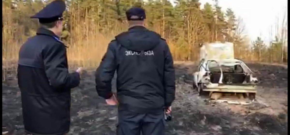 В Пуховичском районе пьяный водитель сбил женщину, скрылся с места ДТП и сжег машину