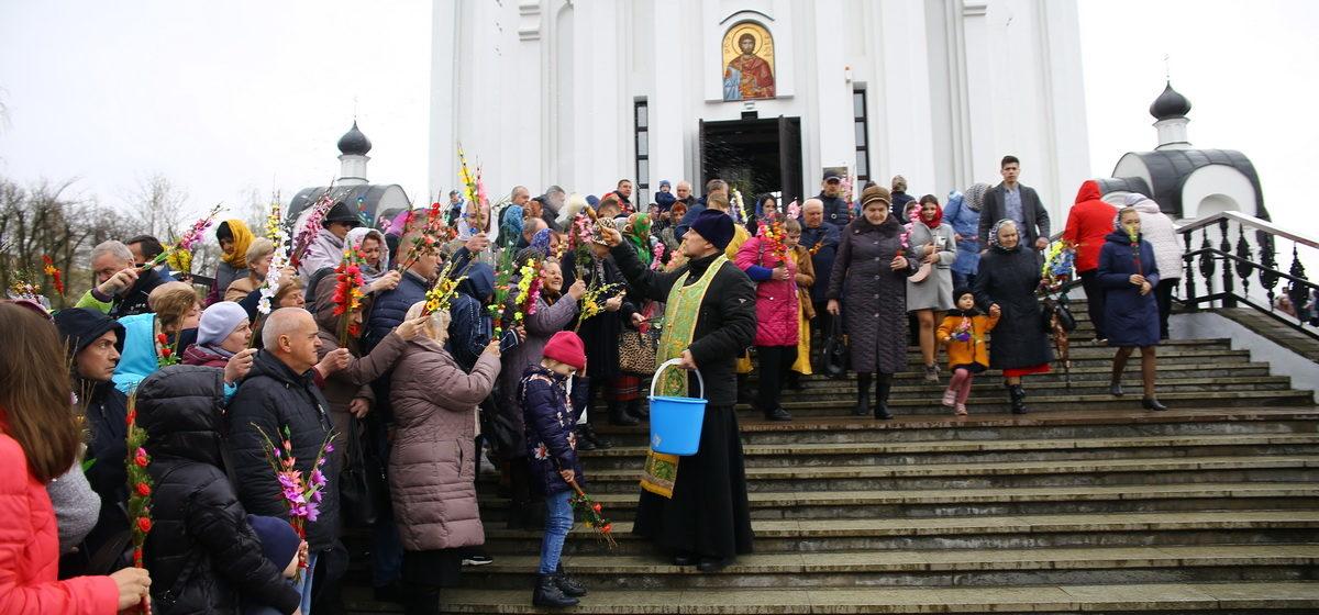 Как прошло Вербное воскресенье в Барановичах (фоторепортаж)