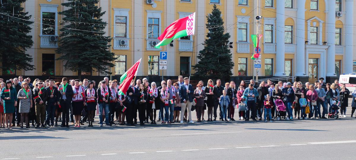 В Барановичах отметили День Государственной символики