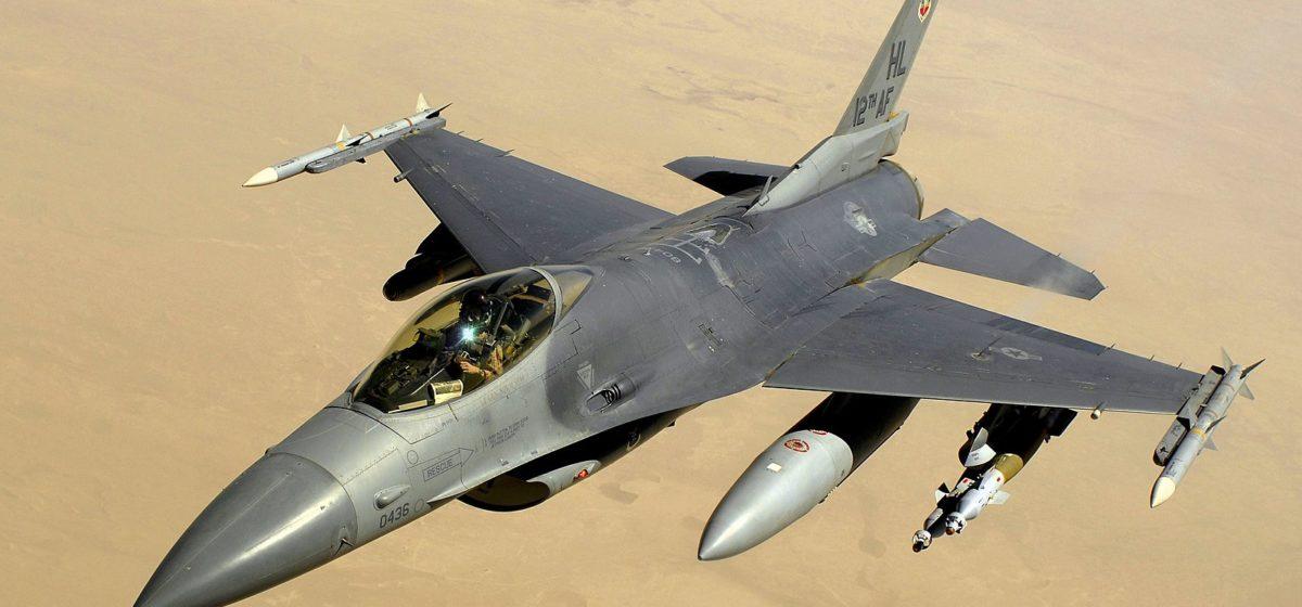 Американский истребитель F-16 разбился в Германии