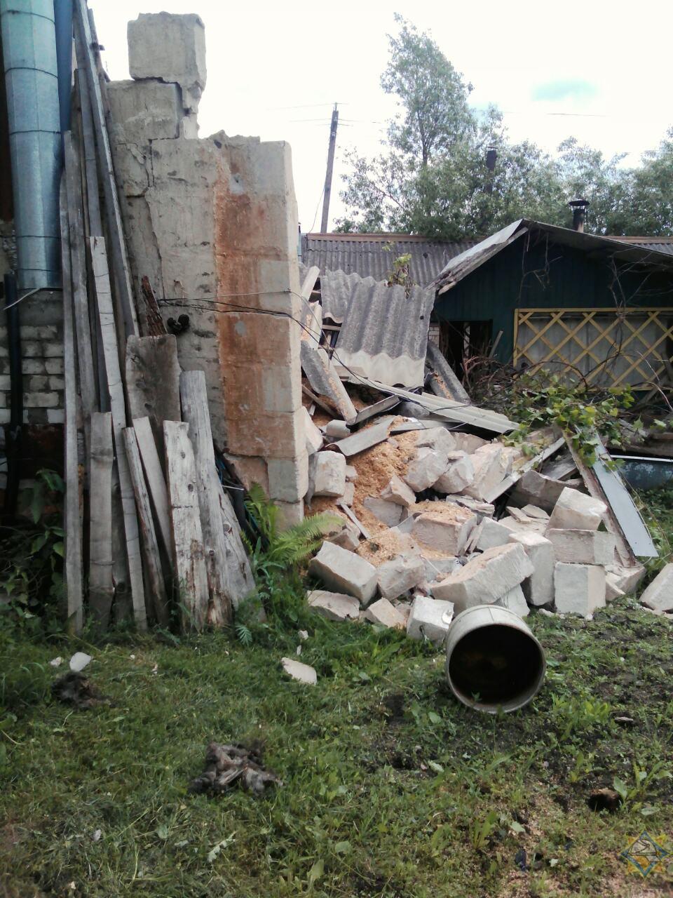 Место взрыва. Фото: vitebsk.mchs.gov.by