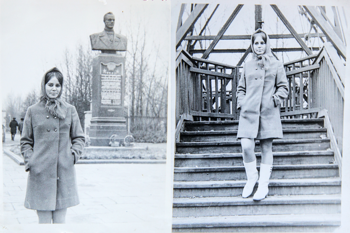 1970 год. Тамара Сильманович около входа в молодой парк. /На ступеньках у «чертова колеса». Фото: личный архив Тамары СИЛЬМАНОВИЧ
