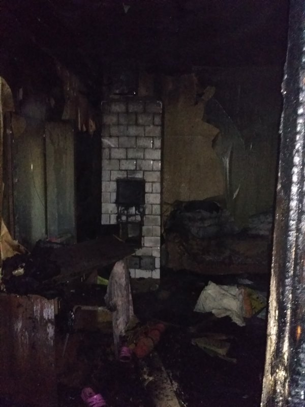 Место возгорания. Фото: МЧС