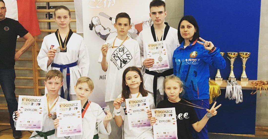 Юные барановичские таэквондисты завоевали награды международного турнира в Польше