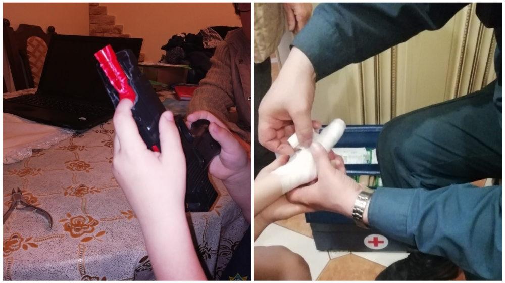 Палец пятилетнего мальчика застрял в игрушечном пистолете в Гомельском районе, пришлось вызывать спасателей