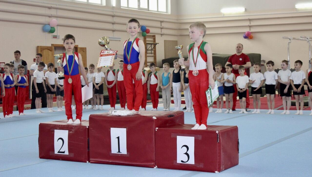 Кирилл Кнышевский (1-е место) и Артем Горегляд (2-е место) стали лучшими среди самых младших гимнастов турнира.