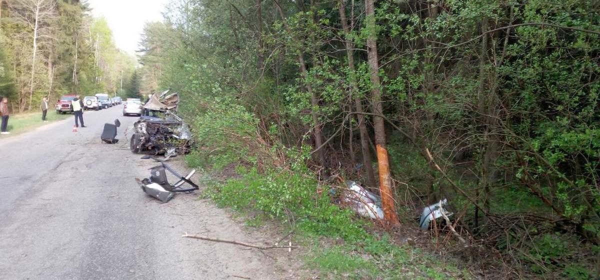 Audi с пьяным водителем опрокинулась под Гродно. Погиб пассажир