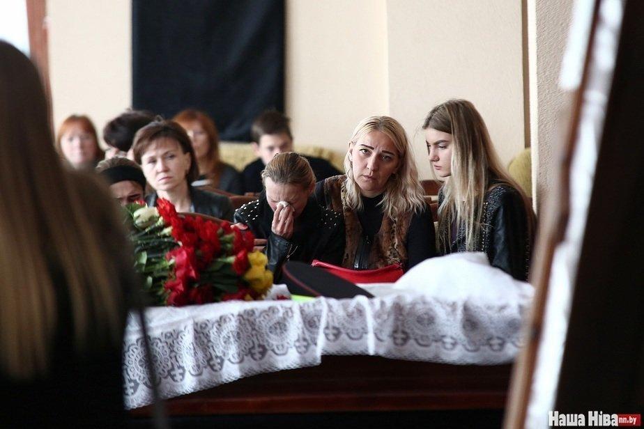 Похороны инспектора ГАИ из Могилева. Фото: «Наша Ніва»