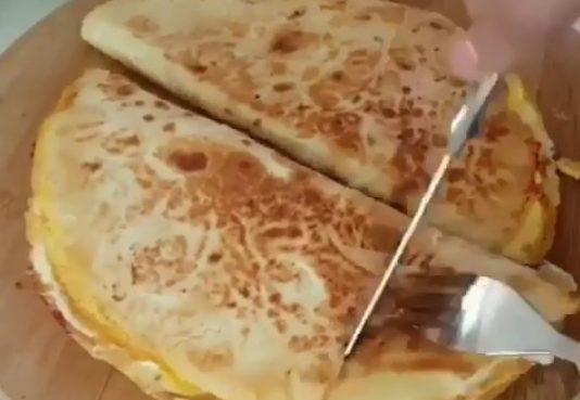 Вкусно и быстро. Тортилья с яйцом и сыром