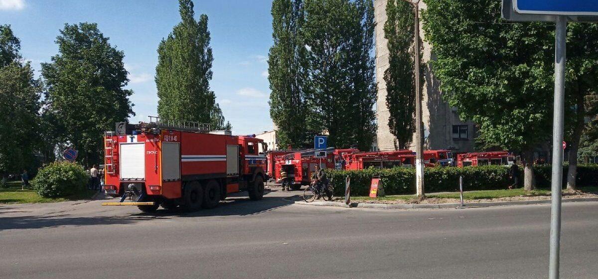 В здании Барановичского производственного хлопчатобумажного объединения произошел пожар