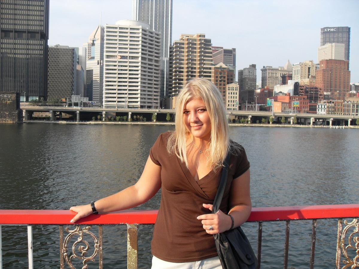Анна Крук в PNC PARK в Питтсбурге. Фото: личный архив