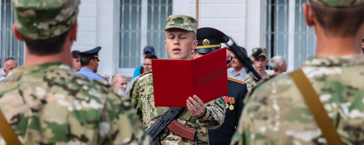 В Барановичах новобранцы войсковой части 7404 приняли присягу. Фоторепортаж