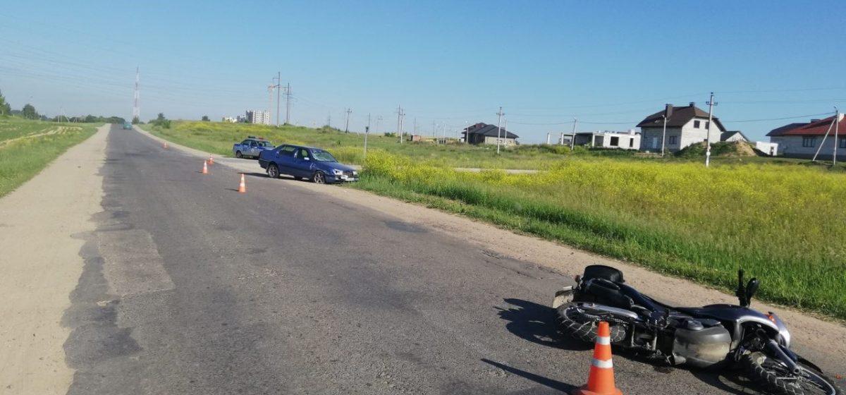 Под Гродно легковушка сбила мотоциклиста. Возбуждено уголовное дело