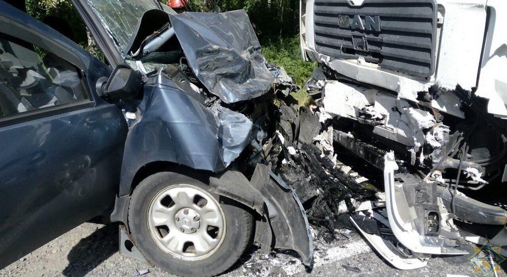 MAN и Renault столкнулись лоб в лоб в Светлогорском районе, пострадали два человека