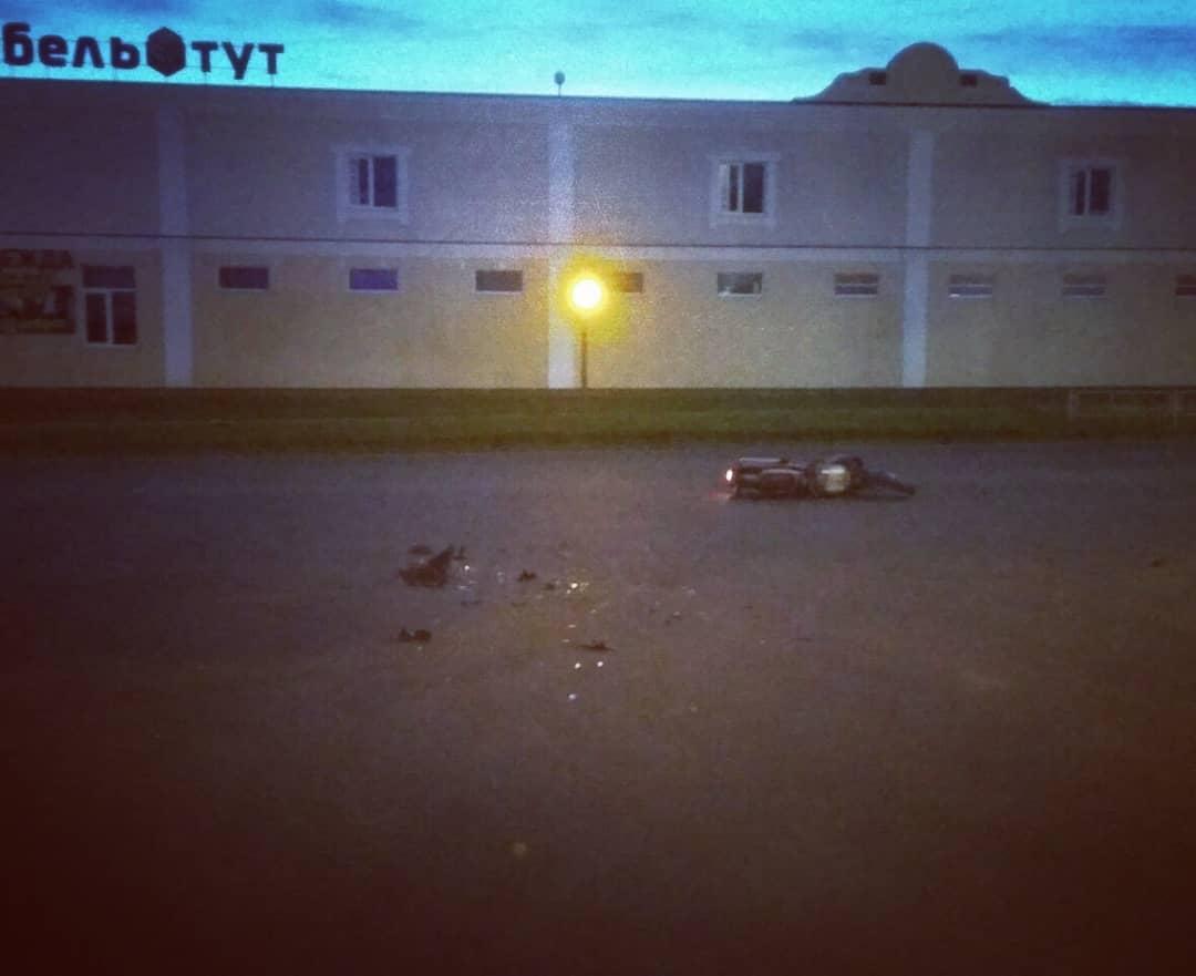 ДТП на Брестской. Фото: @ssnmp_baranovichi