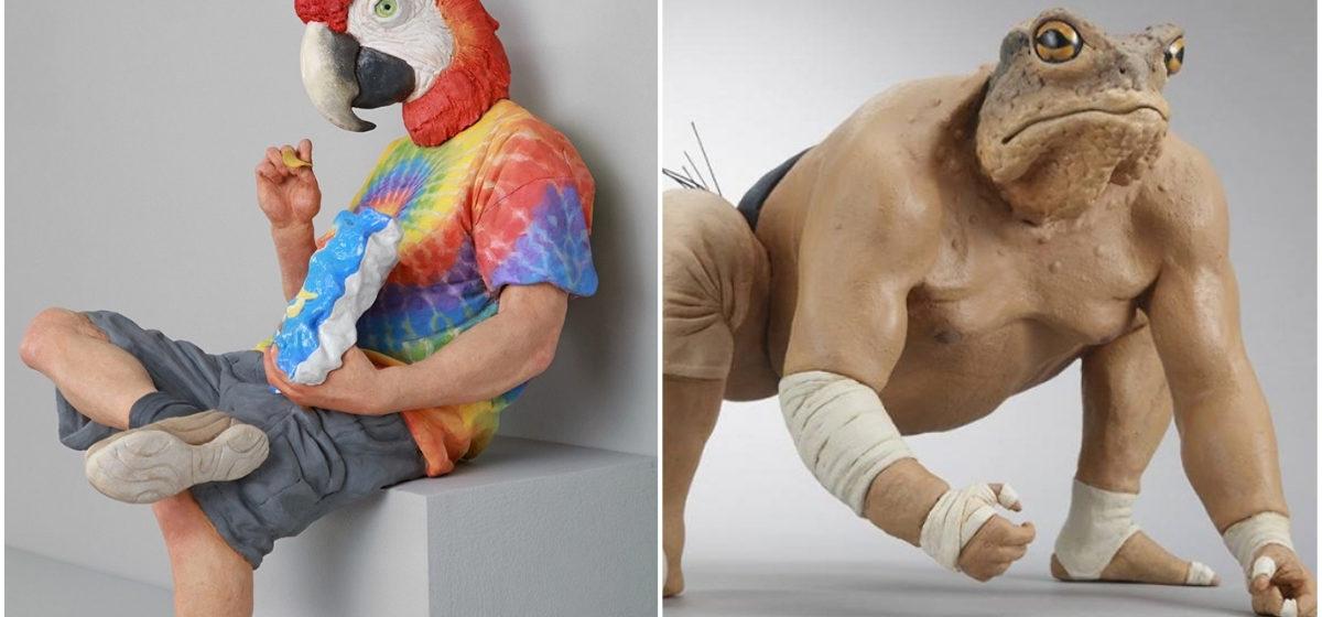Итальянский художник создает сверхреалистичные скульптуры людей с головами животных