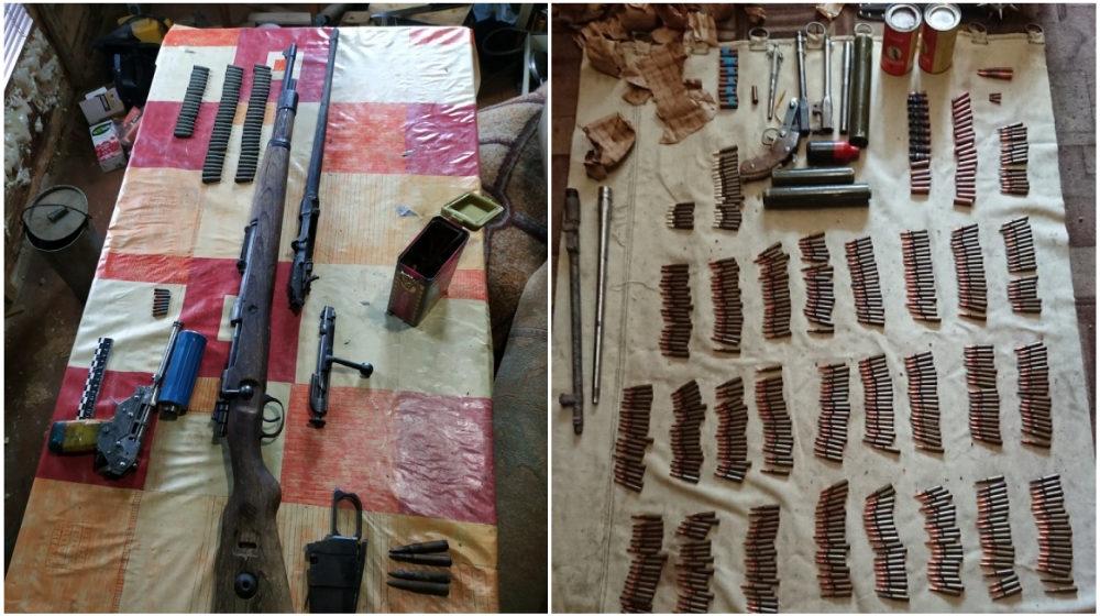 У двух жителей Березовского района изъяли крупный арсенал оружия и боеприпасов (фото)