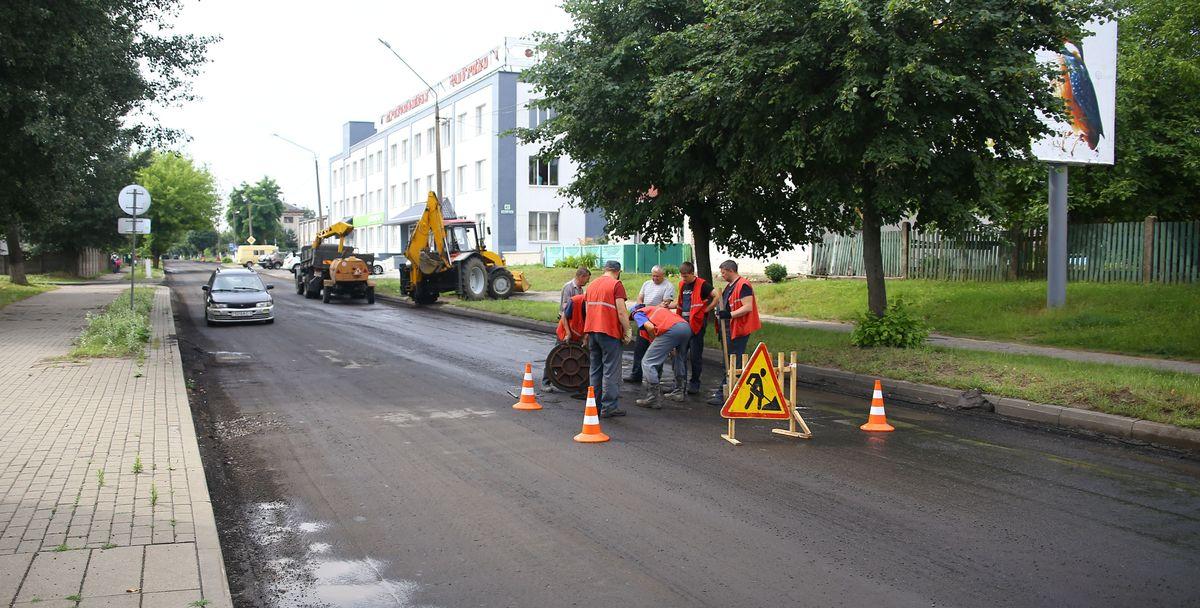 Ремонт дороги на улице Куйбышева. Фото: Татьяна МАЛЕЖ