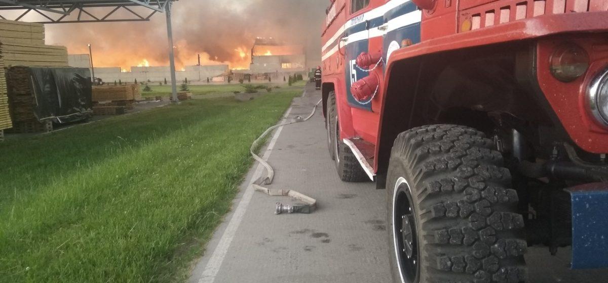 МЧС рассказало о масштабах пожара на «Дипризе»