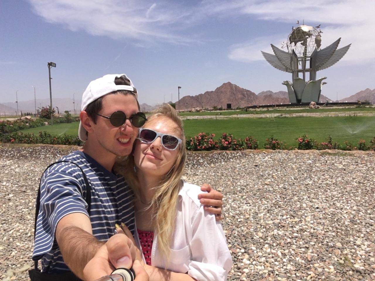 Евгений Тиханович и Екатерина Бубен в Шарм-эль-Шейхе. Фото: Евгений ТИХАНОВИЧ