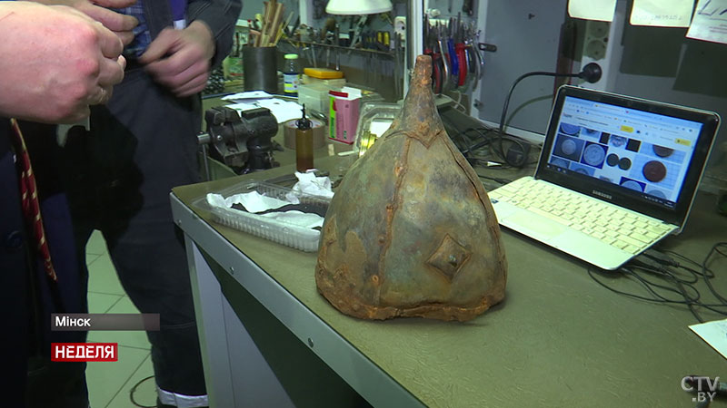 Историки: найденный в Бобруйске 1000-летний шлем, скорее всего, принадлежал полоцкому князю Изяславу