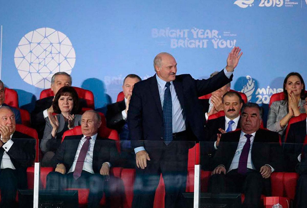 Июнь 2019 года. Александр Лукашенко во время церемонии закрытия II Европейских игр. Фото: president.gov.by