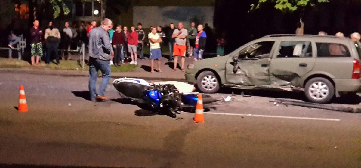 В Слуцке разбился насмерть 26-летний мотоциклист. Он врезался в машину, которая стала разворачиваться