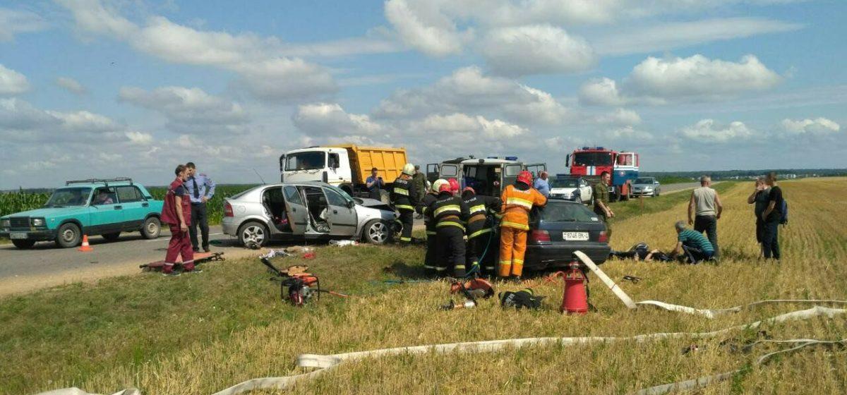 Две легковушки столкнулись в Слонимском районе — пострадали семь человек, в том числе и малолетние дети