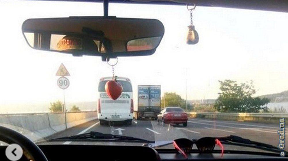 Белорусский рейсовый автобус попал в аварию в Украине